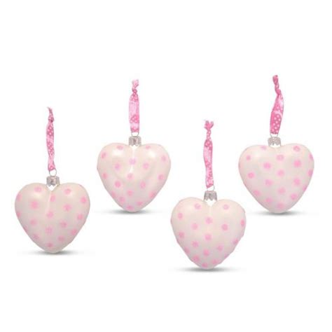pink baubles next buy set of four shaped glass baubles in light pink from our all range