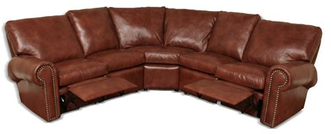 leather reclining sectionals on reclining leather sectional