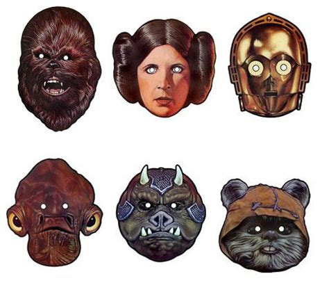 printable chewbacca mask free printable star wars masks chewbacca princess leia