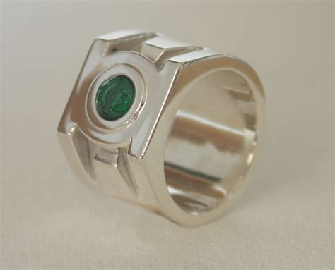 hand crafted green lantern ring   dimension
