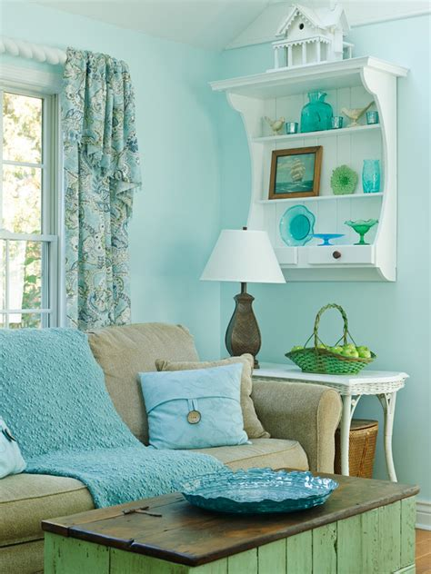 turquoise blue living room cottage living room decor gridley graves photographers house of turquoise