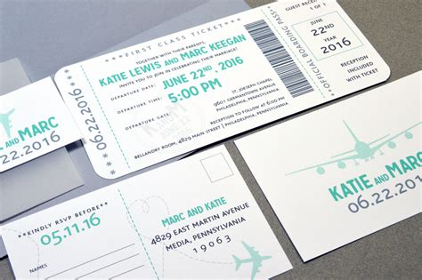 plane ticket wedding invitation template wedding ideas