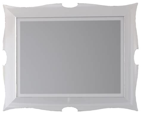 florencia 31 quot 1 2 framed vanity wall mirror white