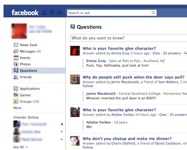 facebook friends questions images are questions the quot future of facebook quot techcrunch
