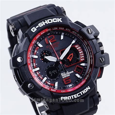 Dziner Ori Gpw 1000 Black gambar up jam tangan g shock gpw1000 hitam merah
