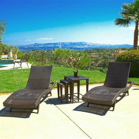 outdoor patio furniture pc wicker adjustable chaise