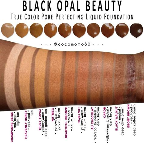 what is my foundation color 17 best ideas about black opal makeup on