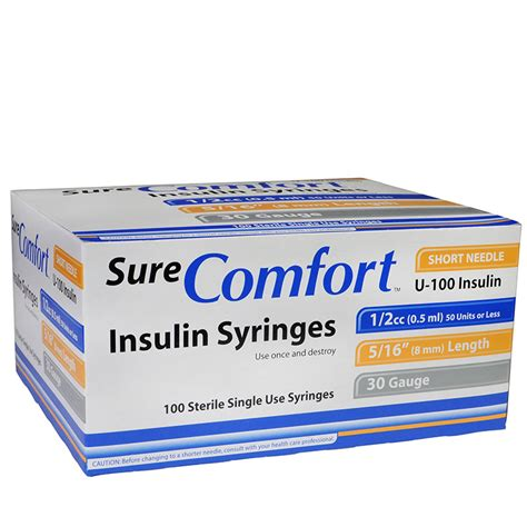 sure comfort insulin syringes surecomfort insulin syringes 786227700557 needles
