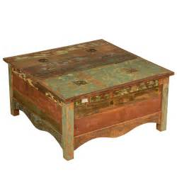 Rustic Square Coffee Table Rustic Reclaimed Wood 35 5 Quot Square Top Coffee Table Chest