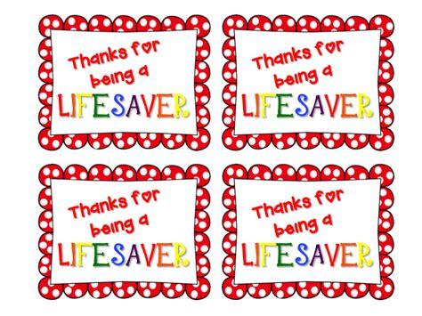 lifesaver teacher appreciation printable just b cause