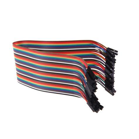40p Jumper Cable 30 Cm To Terlaris Terlaris 40p dupont filo 30 cm filo cavo colorato 1p 1p pin connettore femmina a femmina per rc