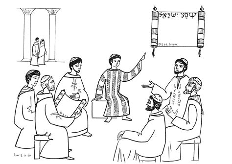 jesus in the temple at 12 coloring page free coloring pages of boy jesus in temple