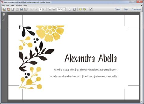 Print Business Cards From Pdf tips for creating a print ready business card