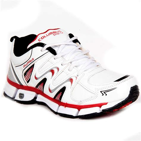 colombus sports shoes buy columbus pu sports shoes white 2388 at