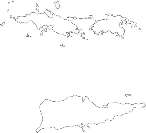 us islands outline map