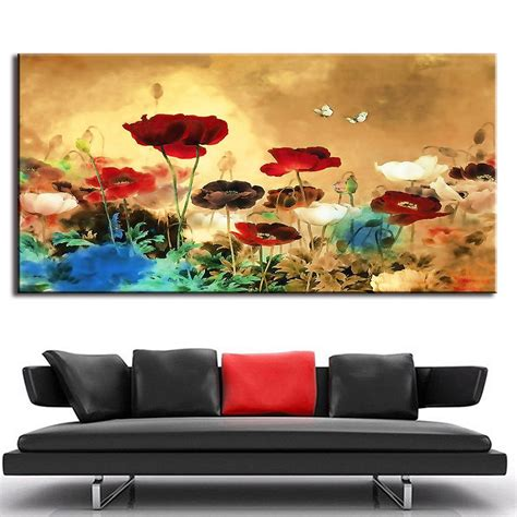1 Pcs Set Huge Picture Living Room Wall Art Chinese Style Living Room Wall Decor Sets