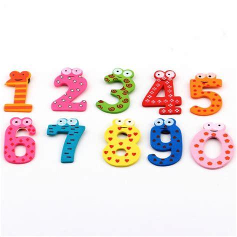 10 Cutest Fridge Magnets by 1set X Gift Set 10 Number Wooden Fridge Magnet