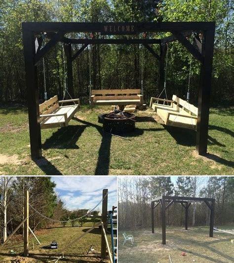 Diy Fire Pit Swing Set Diy Projects Pinterest Pit Swing