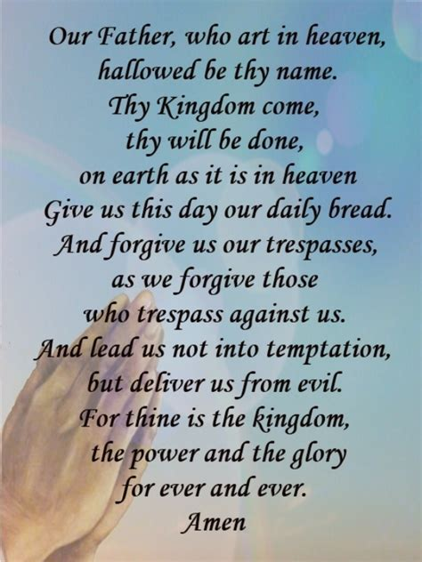 prayer meaning our who in heaven prayer meani