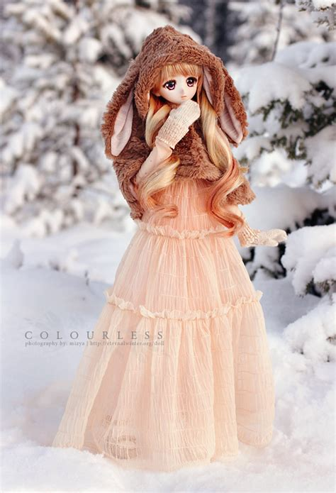 Dress Megumi Second a stroll in the snow colourless