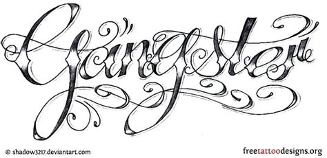 gang tattoo generator gangster letters demo tattoo font gangster cursive letters