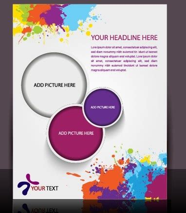 flyer design software free download stylish brochure flyer design vector graphic free vector