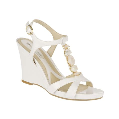 white sandals wedge sandals white