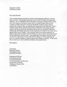 writing a character letter to a judge letter of