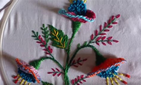 ricamare fiori i artigianato come ricamare fiori in 3d facile e veloce