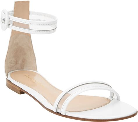 Sandal White gianvito pvc anklestrap flat sandals in white lyst