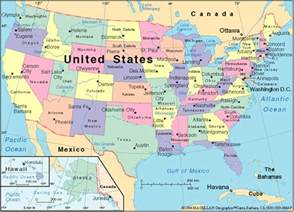 states of america map maps of usa