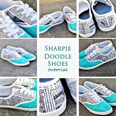 Glebova Shoes 4 doodle shoes these are maybe a zentangle y but kinzy for