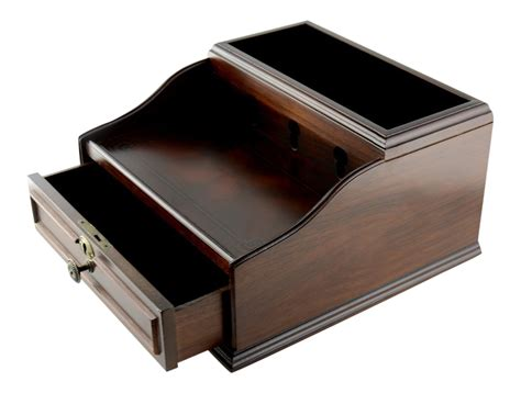 Valet Drawer With Charging Station by Mahogany Wood Finish Valet Charging Station With Storage