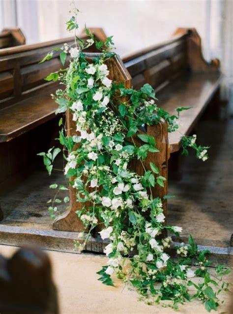 Stunning wedding pew decorations!   wedding   ceremony
