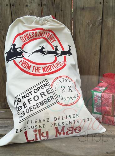 personalized christmas santa sack
