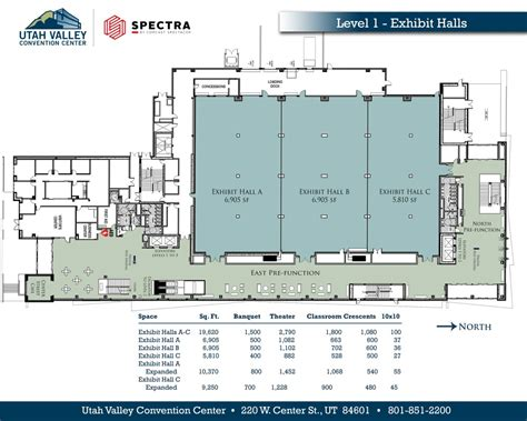 Ta Convention Center Floor Plan | view our floor plans utah valley convention center