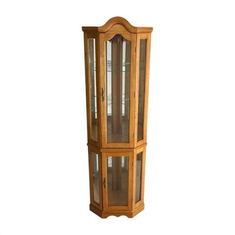 lighted corner curio cabinet accent furniture house home page 12