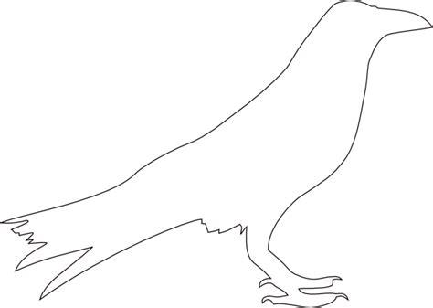 crow bird coloring page crow outline clip art at clker com vector clip art