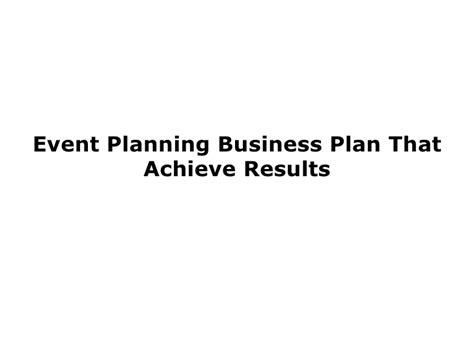 event design business event planning business plan