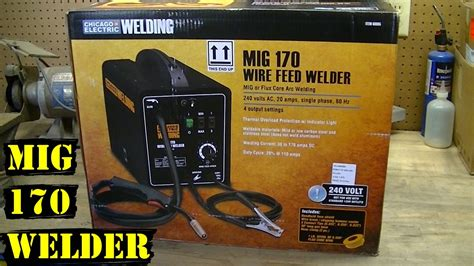 chicago electric mig  welder unboxing