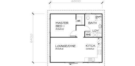 1 Bedroom Transportable Homes Floor Plan Free House Plans One Bedroom