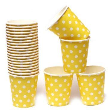 Termurah Gelas Kertas Motif Polkadot Paper Cup Gelas Kertas Kuning Polkadot 200ml Pestaseru Toko
