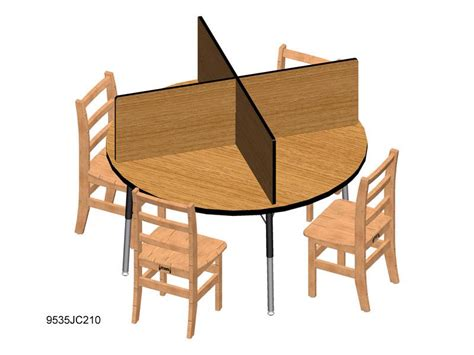 48 table fits how many jonti craft table top study carrel fits 48 quot x 48 quot table 9532jc study carrels worthington
