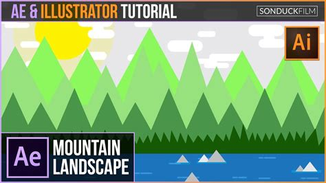 tutorial illustrator after effects after effects animation illustrator tutorial mountain