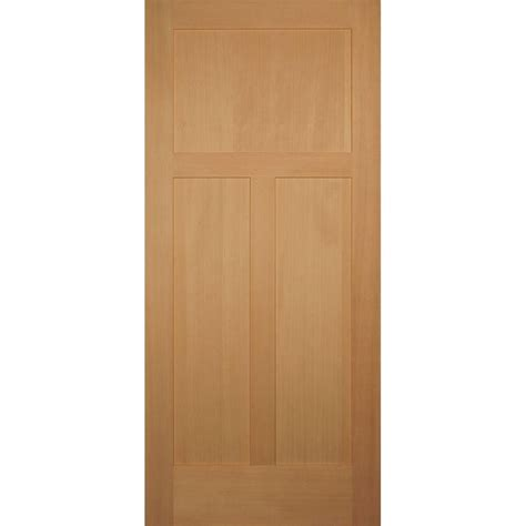 Hemlock Interior Doors Builder S Choice 32 In X 80 In 3 Panel Craftsman Solid Hemlock Single Prehung Interior