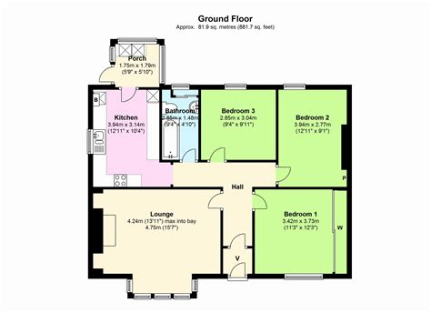 Three Bedroom Bungalow House Plans by 3 Bedroom Bungalow Floor Plan Www Indiepedia Org