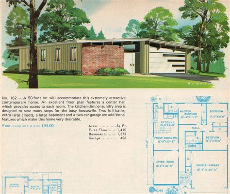 Mid Century House Plans by 1960s House Plans Escortsea