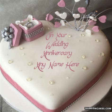 wedding anniversary cake with name top happy anniversary cakes with name