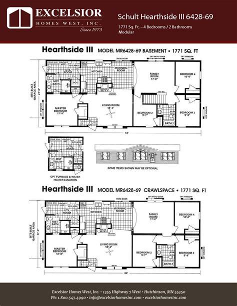 manufactured home floor plan 2008 schult hearthside schult hearthside iii excelsior homes west inc
