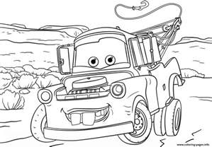 tow mater cars 3 disney coloring pages printable